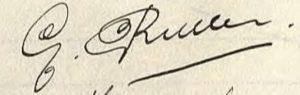 Handtekening van Ger Rutten (1909-1990), 1934