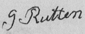 Handtekening Gerardus Rutten 1794-1847, 1822