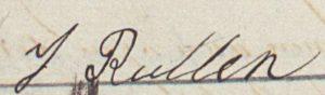 Handtekening van Jan Rutten (1866-1941), 1895